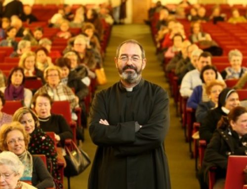 """Fr. Montes: """"Many times in refugee camps I see smiles of joy I do not see in Western cities."""""""