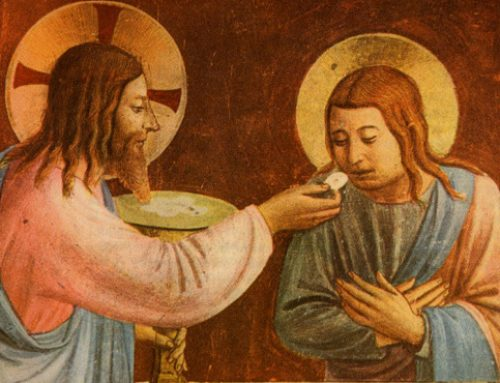 """Christ gives us his body in the Eucharist"""